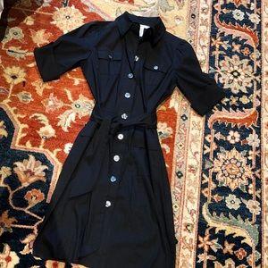 Diane von Furstenberg shirt dress with tie waist